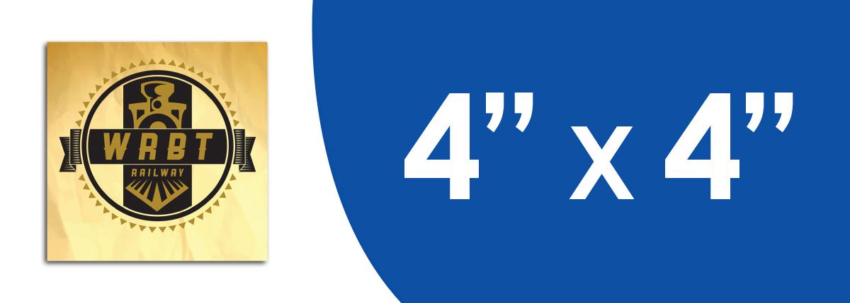 """4"""" x 4"""" Stickers"""