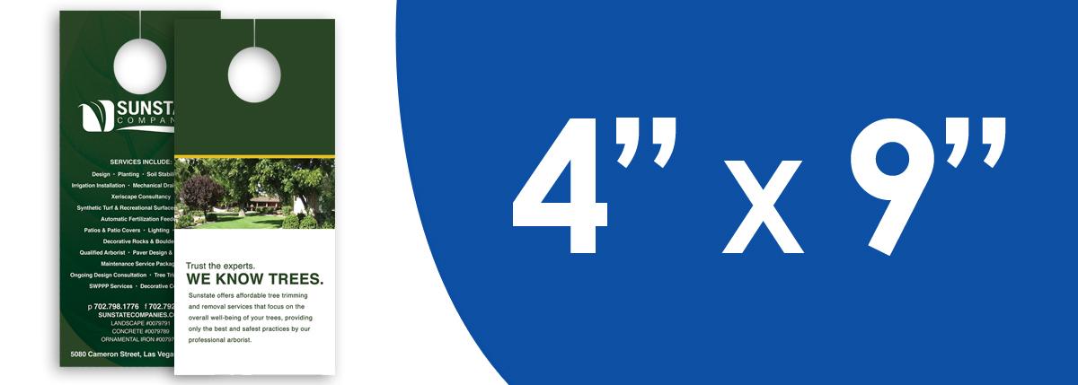 """4"""" x 9"""" Door Hangers"""